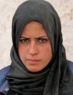 Syrian girl with a d